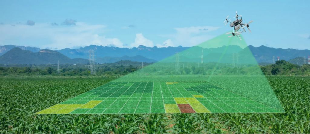 بررسی ویژگی های خاک مزرعه توسط پهپاد