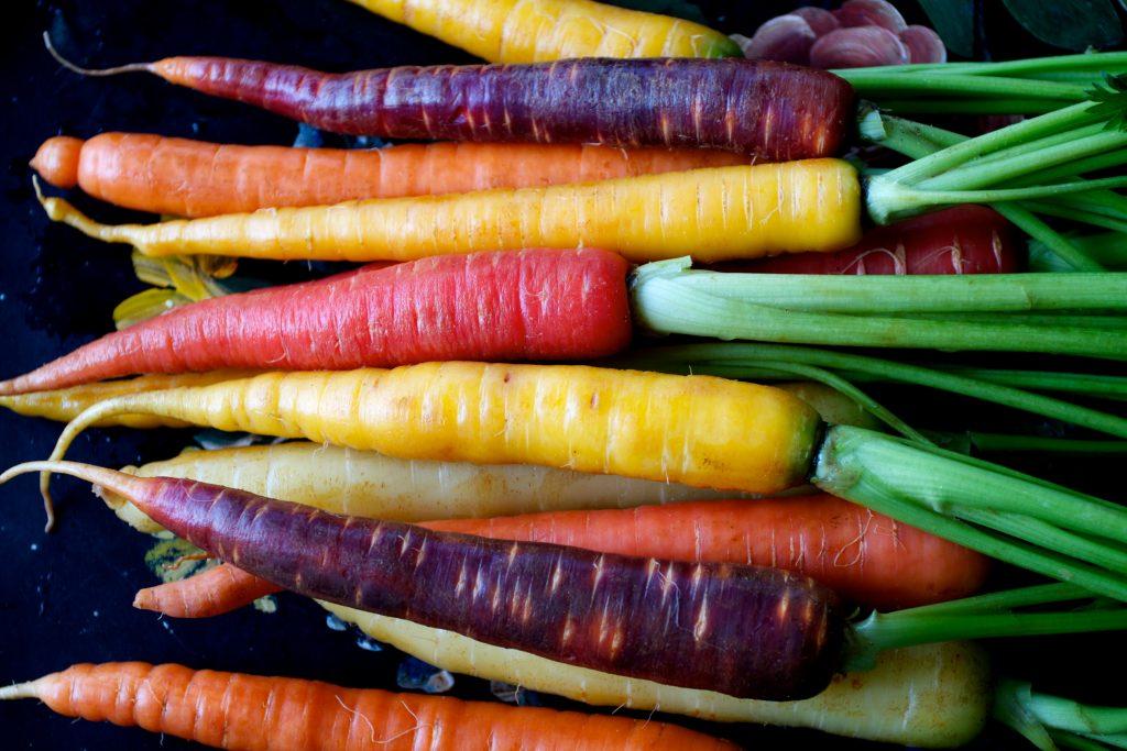رنگ های هویج