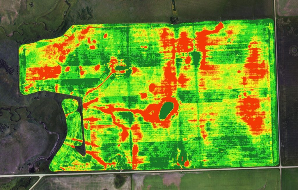 تهیه نقشه سلامتی گیاه با استفاده از تصاویر ماهواره ای
